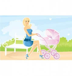 beauty mother vector image vector image