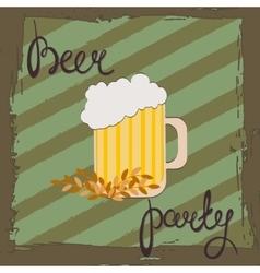 Beer party retro of beer free label vector