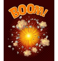 Big cool explosion composition vector