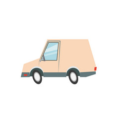 Cartoon van car delivery transport vector
