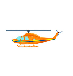 civil helicopter isolated icon vector image vector image