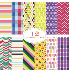 Classic patterns vector