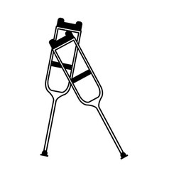 Crutches healthcare icon image vector