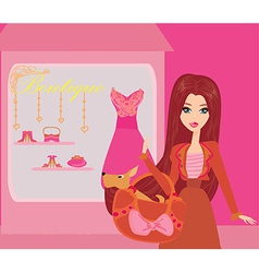 fashion girl Shopping vector image