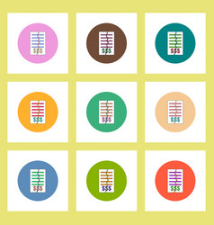 Flat icons set of terminate the contract concept vector