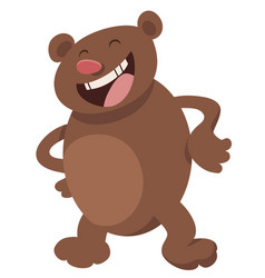 Funny bear cartoon character vector