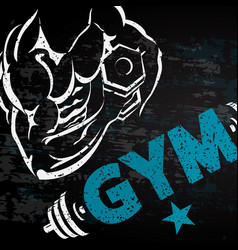 gym and fitness background vector image vector image