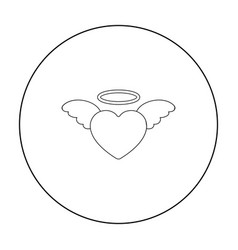 heart icon in outline style isolated on white vector image