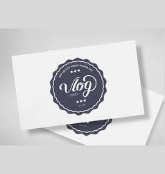 Lettering design template vector