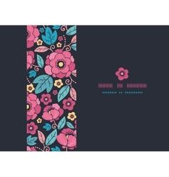 Night Kimono Blossom Horizontal Frame Seamless vector image vector image