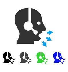 Operator speak flat icon vector