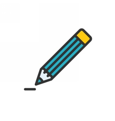 Pencil Outline Icon vector image vector image