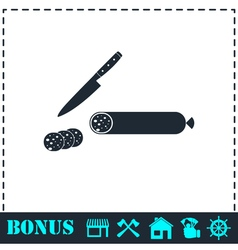 Sausage icon flat vector image