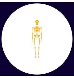 Skeleton computer symbol vector image vector image