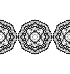 Snowflake christmas seamless pattern circular vector