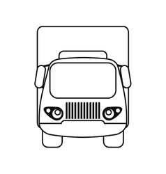 Truck small cargo transportation outline vector