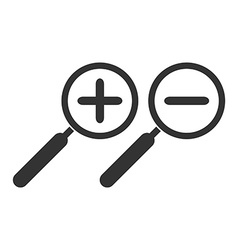 Zoom in and zoom out symbol Magnifying glass vector image