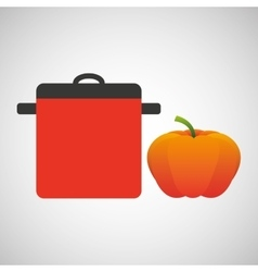 Cooking pot icon vector