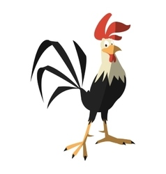 Isolated rooster cartoon design vector image