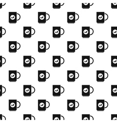 Cup of tea pattern simple style vector