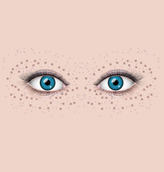 Beautiful female eyes vector