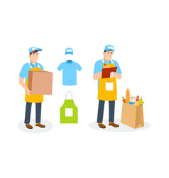 Specialist shipping department branded clothing vector
