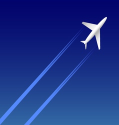 Airplane on sky vector