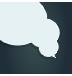Blank empty white speech bubbles vector image