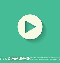 Play web icon on background vector