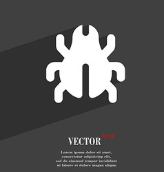 Software bug virus disinfection beetle icon symbol vector