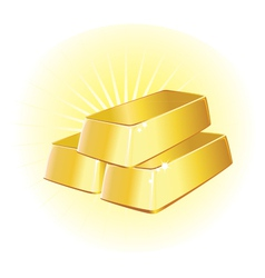 Gold ingots vector
