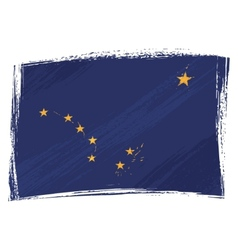 grunge alaska flag vector image