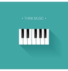 Musical flat background vector