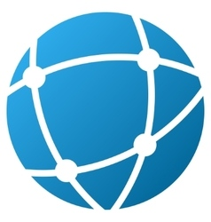 Network Sphere Gradient Icon vector image
