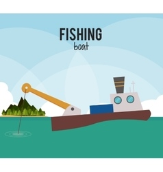 Fishing graphic design vector