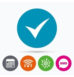 Check sign icon yes symbol vector