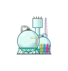 Industrial plant isolated on white vector