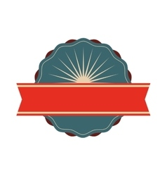 Seal stamp with ribbon Retro label design vector image