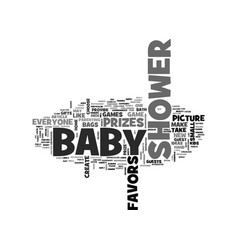 baby shower prizes and favors text word cloud vector image