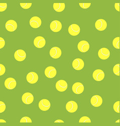 background of tennis balls vector image vector image