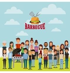 Barbecue grill design vector