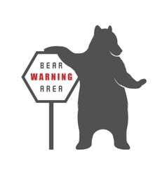 Bear with Sign vector image