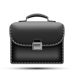 Black briefcase isolated on white background vector image