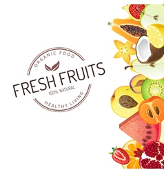 Bright background with fruits vector