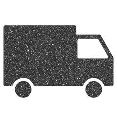 Cargo van icon rubber stamp vector