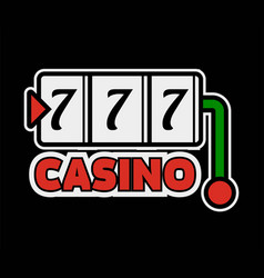 Casino poker logo template lucky numebr 7 or vector