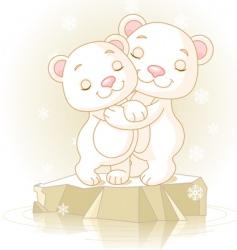 cute polar bears vector image vector image