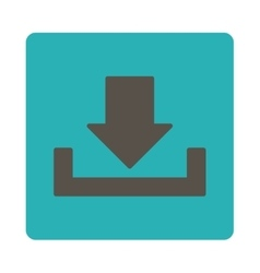 Download flat grey and cyan colors rounded button vector
