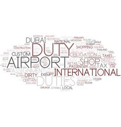 Duties word cloud concept vector