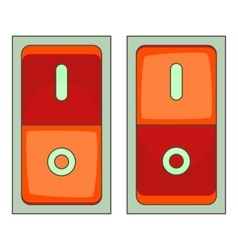 Electric switch icon cartoon style vector image